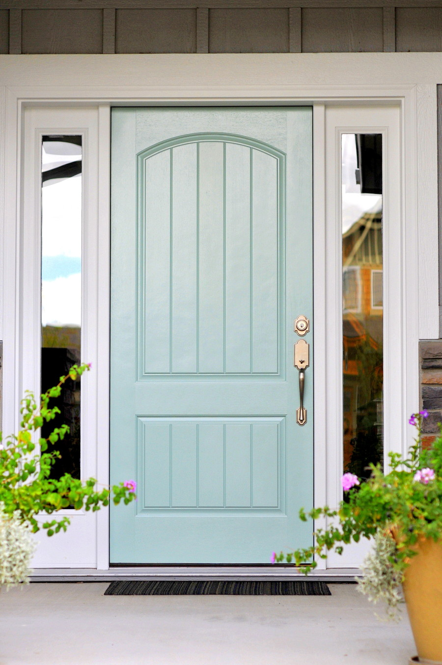Remodelaholic color spotlight wythe blue from benjamin for Outside door paint