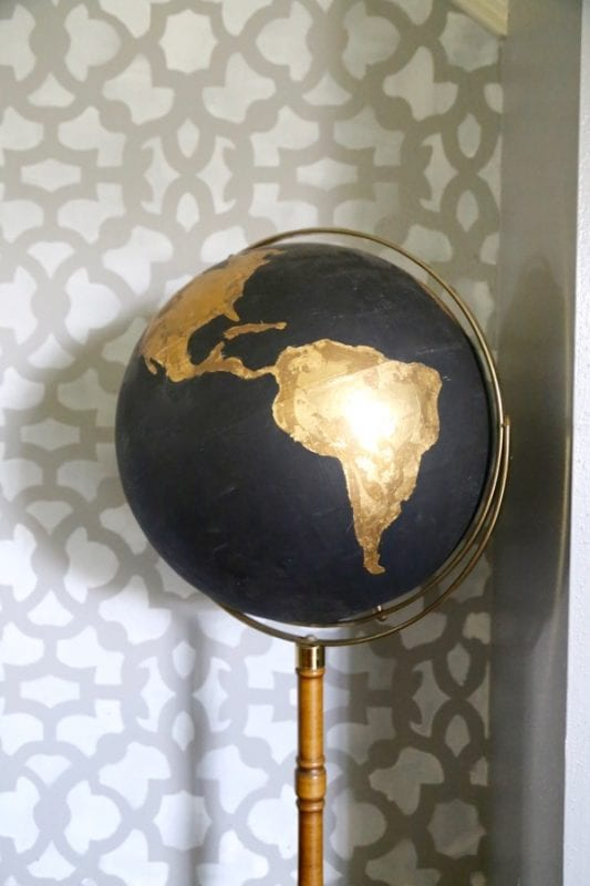Goodwill globe goes gorgeous, by Love and Renovations featured on @Remodelaholic