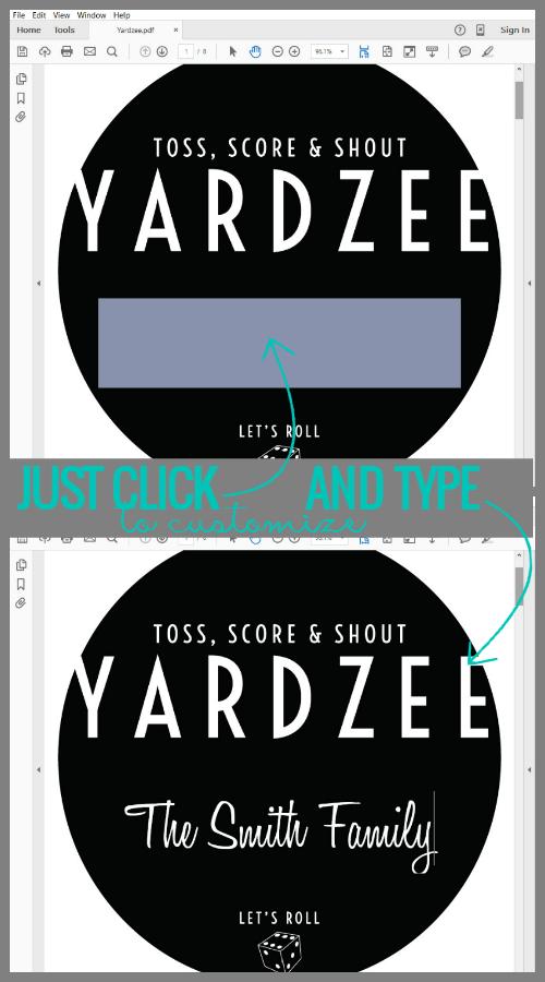 Remodelaholic Yardzee Yard Dice Game Tutorial + Printables