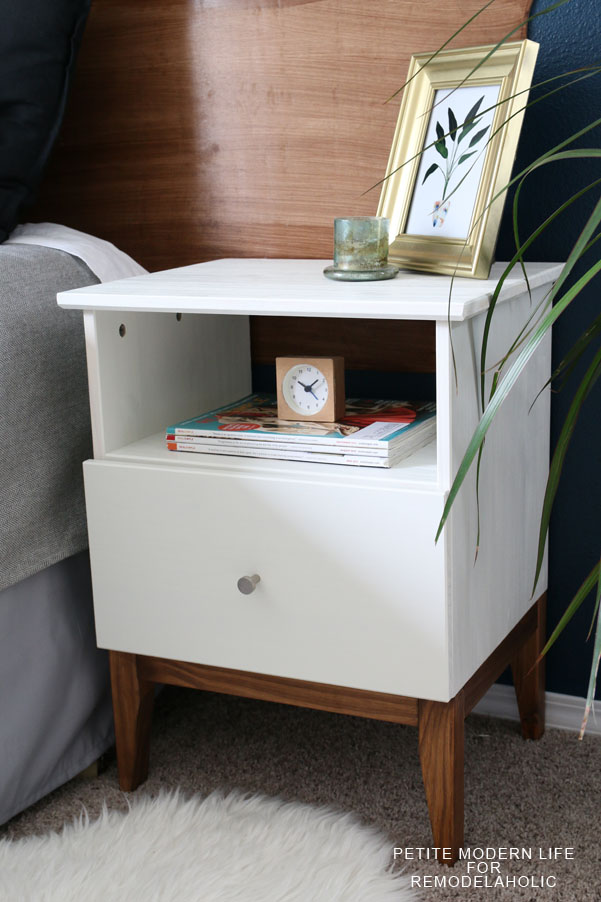 remodelaholic easy mid century ikea tarva nightstand hack. Black Bedroom Furniture Sets. Home Design Ideas