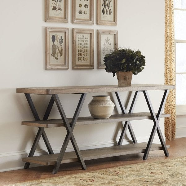 double x farmhouse console table inspiration