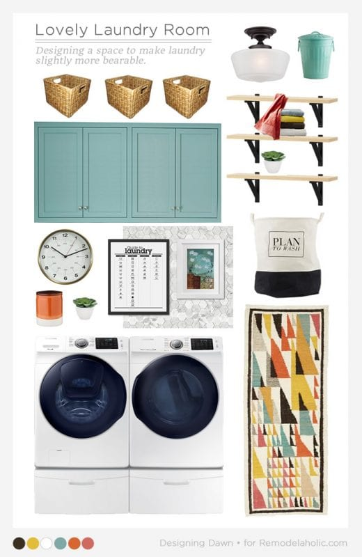 Laundry Room Mood Board - Designing Dawn for Remodelaholic.com
