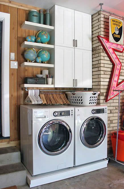 Beautiful laundry room inspiration | Found on iheartorganizing.com