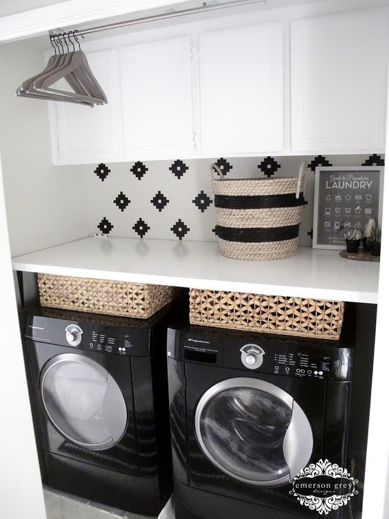Beautiful laundry room inspiration | Found on emersongreydesigns.com