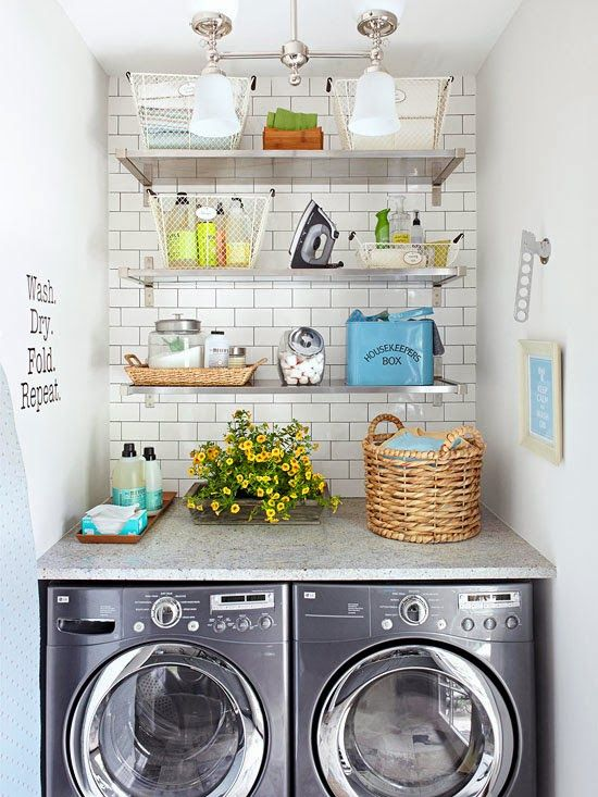Beautiful laundry room inspiration | Found on bhg.com