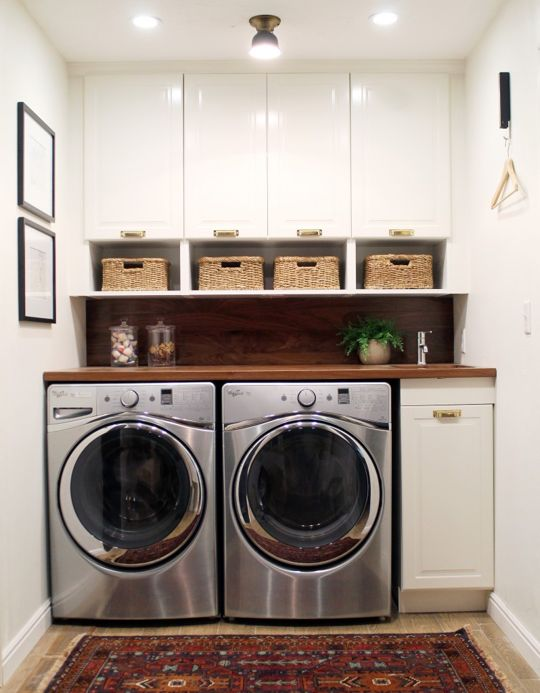 Remodelaholic | Lovely Real-Life Laundry Room Ideas