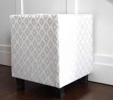 Ballard Designs Inspired Upholstered Cube Ottoman or Stool