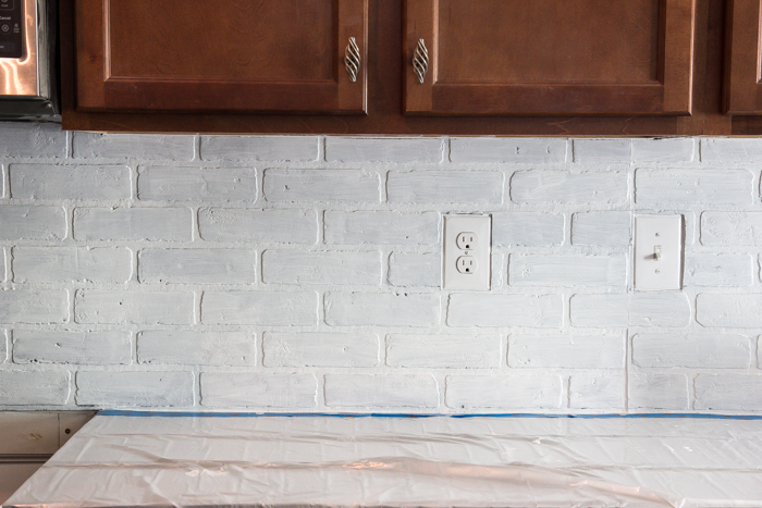 Whitewashed faux brick backsplash (13 of 18)
