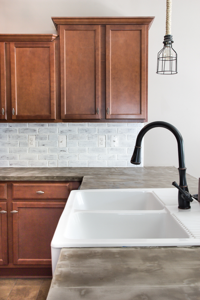 Merveilleux Whitewashed Faux Brick Backsplash (15 Of 18)