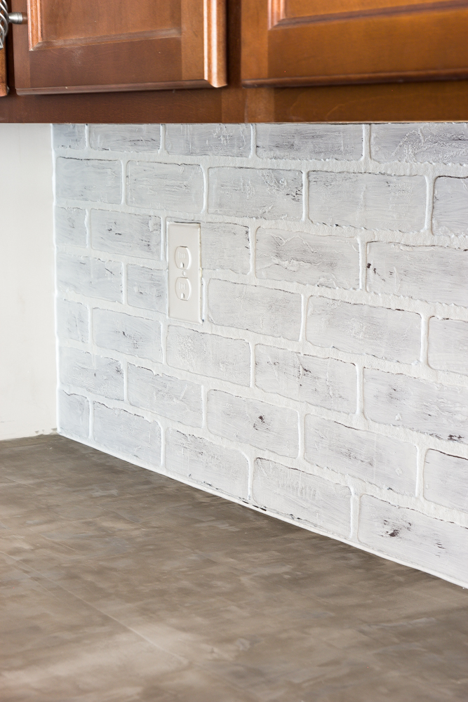 Whitewashed faux brick backsplash (18 of 18)