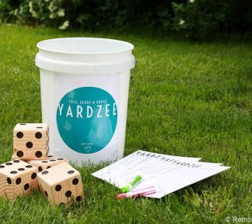Yardzee Yard Dice Game Tutorial + Printables