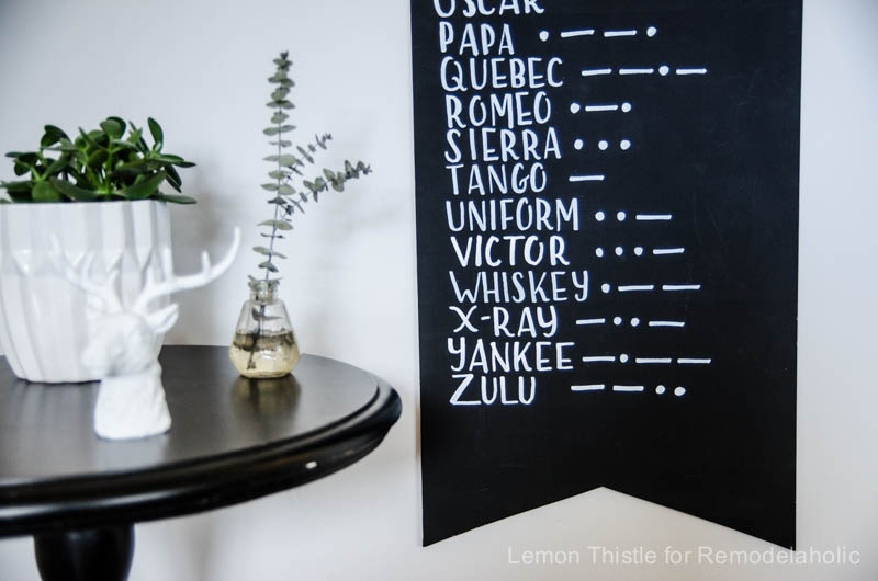 DIY Modern Alphabet and Morse Wall Pennant
