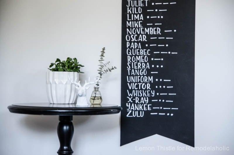 DIY Modern Alphabet and Morse Wall Pennant