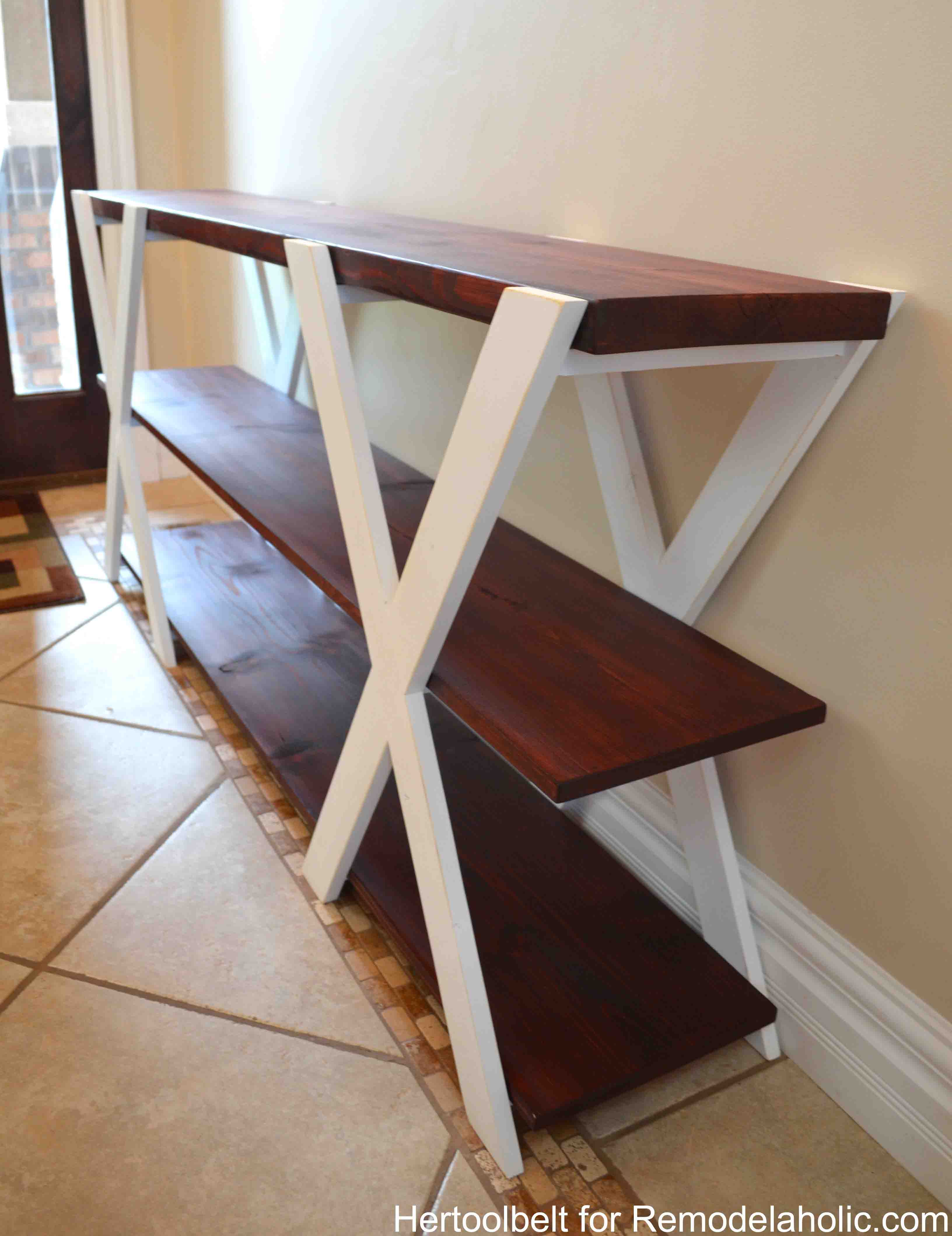 Attrayant An Easy Build, DIY Double X Console Table For Your Entryway. Build For Less