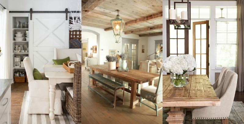 Farmhouse Dining Room Ideas: High-Low Farmhouse Dining Room Decor