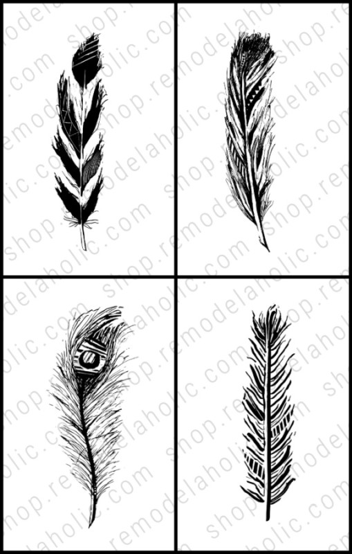 Feather Printable Art Set 4x, Remodelaholic