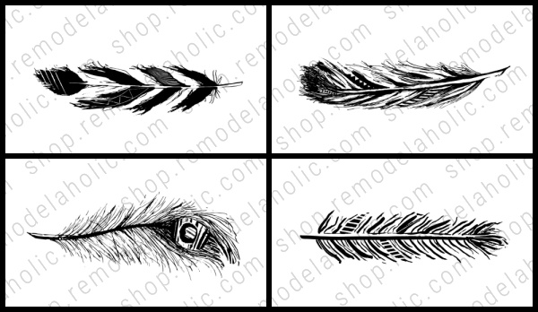 Feather Printable Art Set 4x Vertical