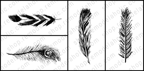 Feather Printable Art Set Combo Vert Horiz, Remodelaholic