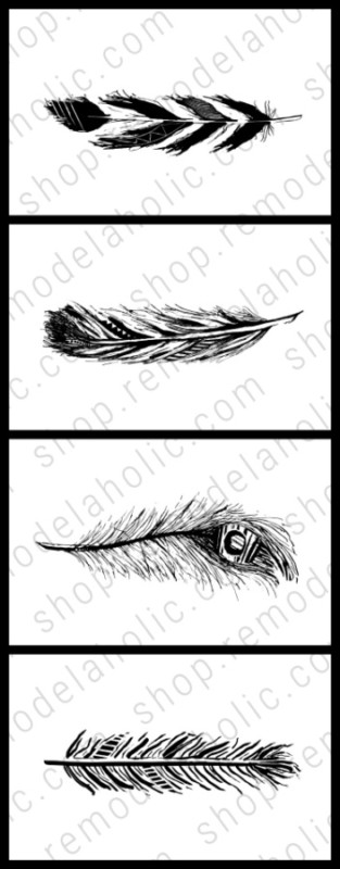 Feather Printable Art Set Vertical, Remodelaholic