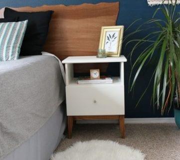 Easy Mid Century IKEA Tarva Nightstand Hack
