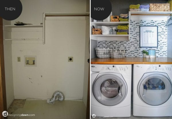laundry-then vs now - Designing Dawn