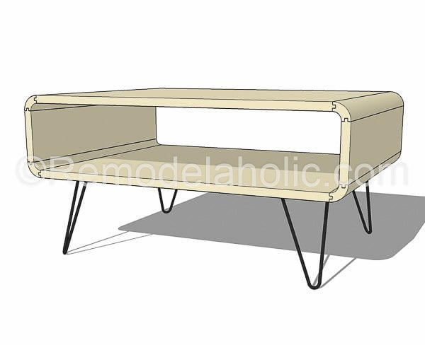 mid century modern coffee table by @remodelaholic-17