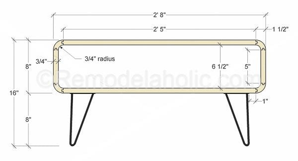 mid century modern coffee table by @remodelaholic-2