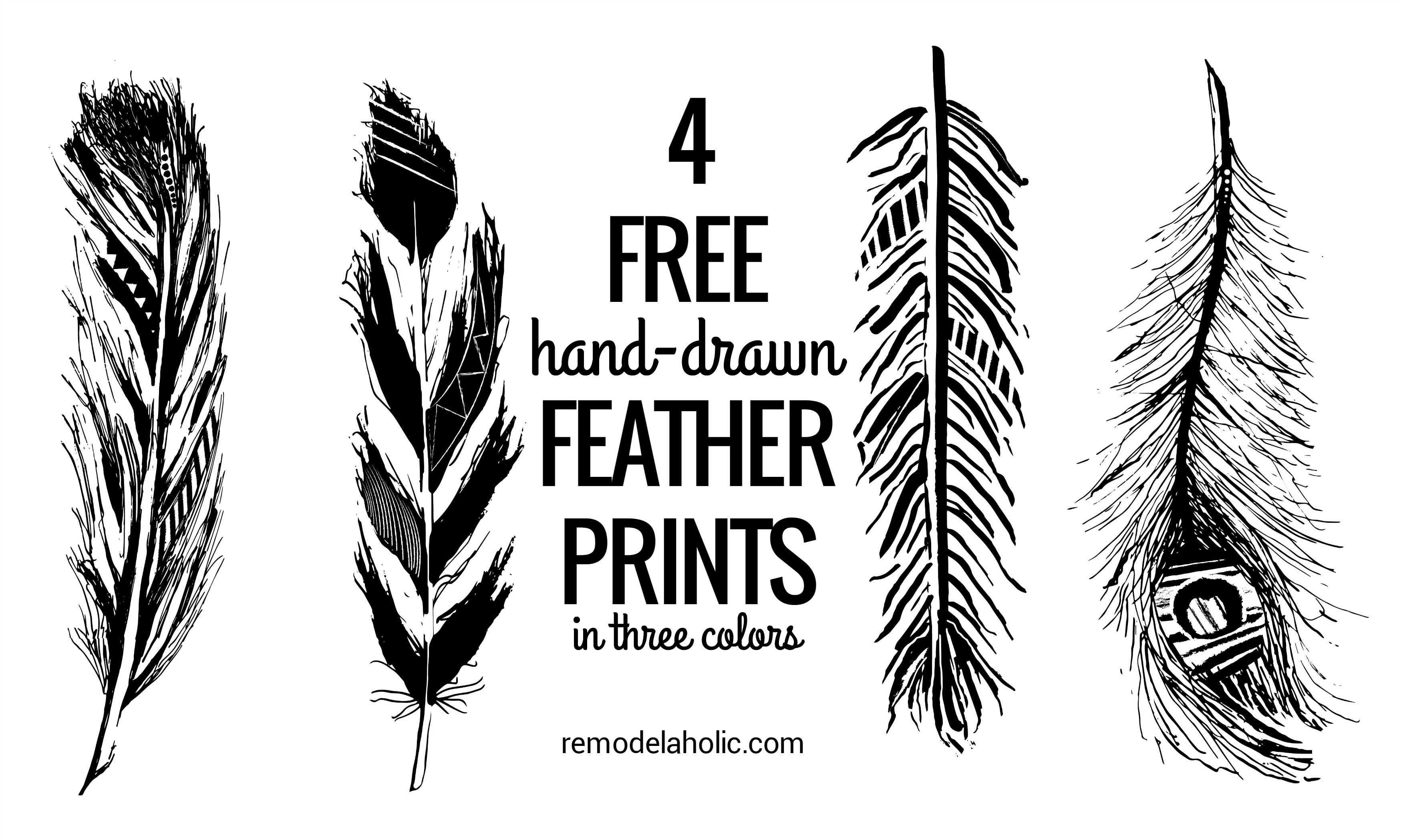 Remodelaholic Feather Printables