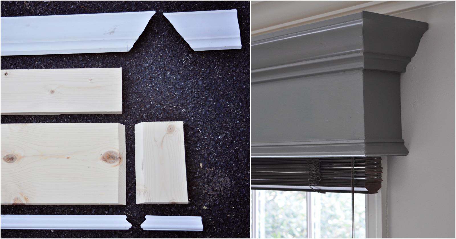 Remodelaholic How To Build And Hang A Window Cornice