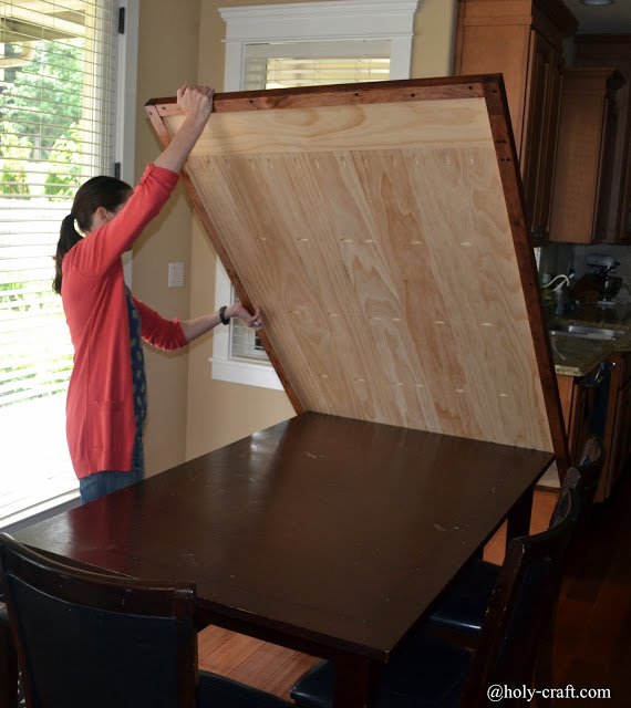 New Removable Table Top Allows Mom To Craft And Not Worry About Damaging Dining  Table