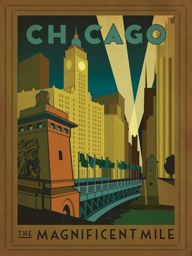 Remodelaholic 35 free vintage us travel poster for Vintage chicago posters