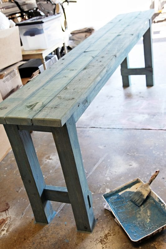 Remodelaholic How To Build A No Nails Console Table
