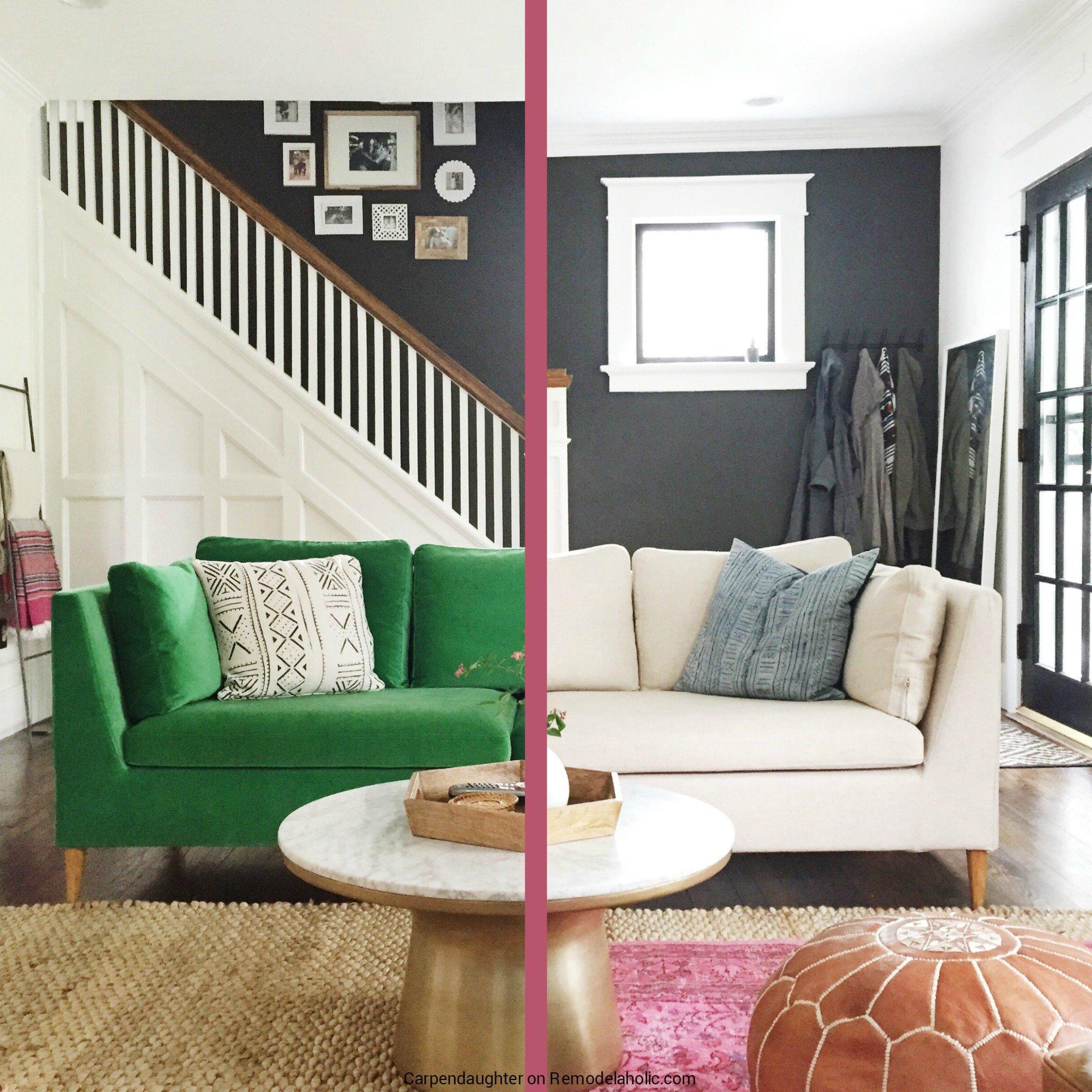 Remodelaholic Easily Change a Room with a Custom IKEA Sofa Slipcover