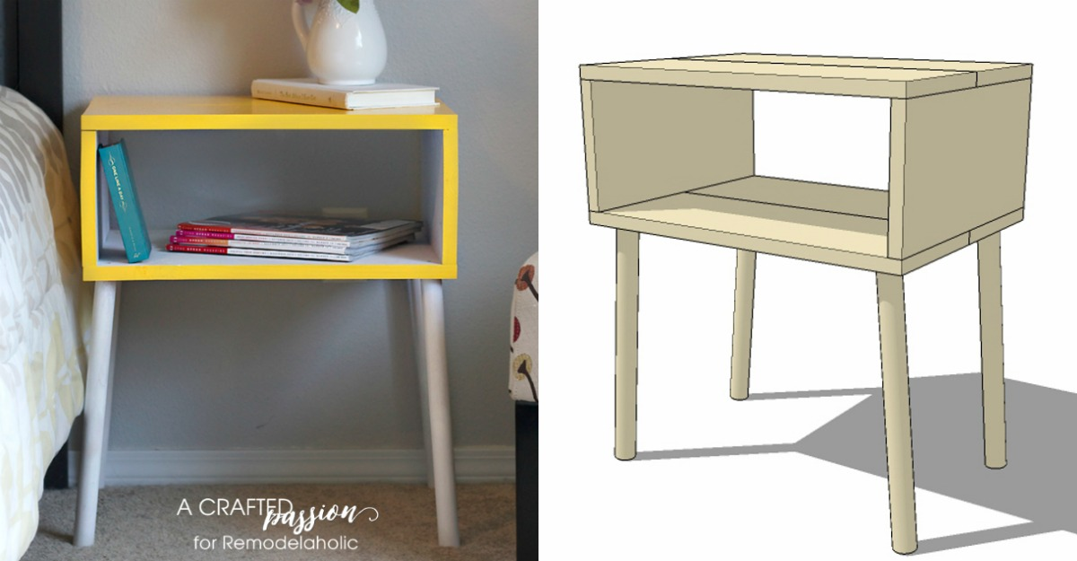Remodelaholic 15 easy diy modern side table building plan for How to build a side by side
