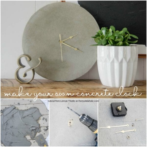 DIY concrete clock tutorial @Remodelaholic