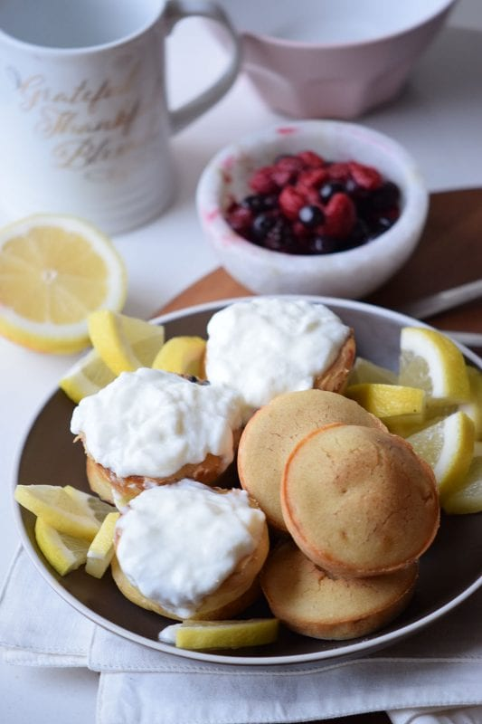 Yogurt Pancake Poppers