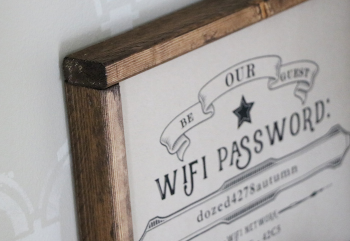 FREE WIFI printable from Sincerely Sara D