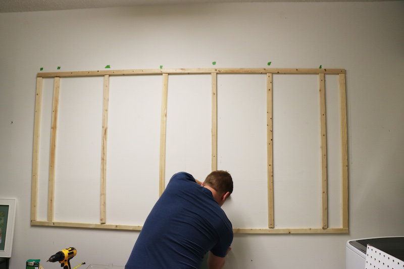 remodelaholic how to hang pegboard for perfect laundry room storage. Black Bedroom Furniture Sets. Home Design Ideas