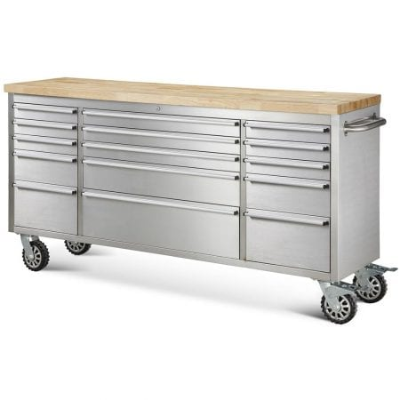 Hewetson 15 Drawer Rolling Metal Tool Chest