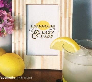 Free Summer Printable: Lemonade and Lazy Days