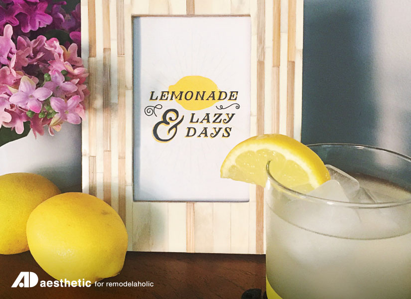 Lemonade & Lazy Days Summer Printable by AD Aesthetic for Remodelaholic