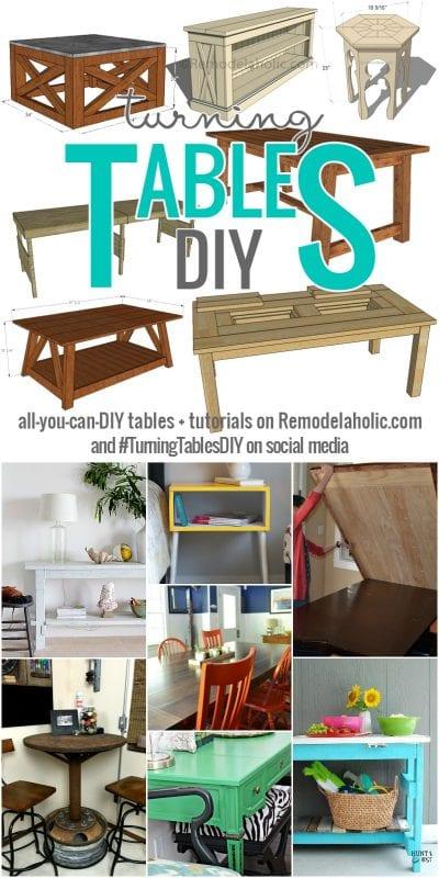 Turning Tables DIY Week on @Remodelaholic