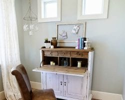 Wall-color-is-Silver-Strand-from-Sherwin-Williams.-Color-Spotlight-on-Remodelaholic feat