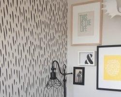 brustroke accent wall DIY