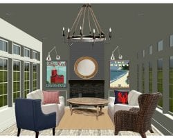 coastal casual living room Postbox Designs feat