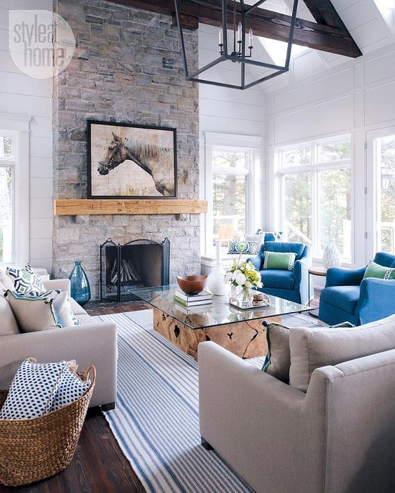 Remodelaholic coastal casual living room design tips for Modern cottage living room ideas