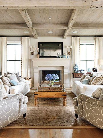 Remodelaholic coastal casual living room design tips for Casual living room furniture ideas