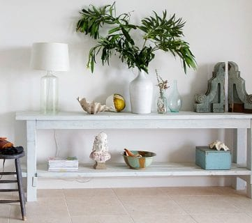 How to Build a No-Nails Console Table + Layering Milk Paint