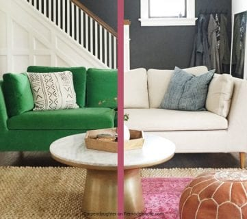 Easily Change a Room with a Custom IKEA Sofa Slipcover