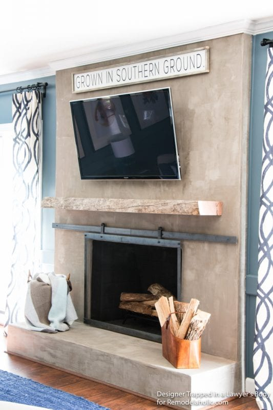 Remodelaholic | How to Install a Wood Mantel on a Masonry ...